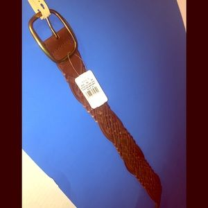 Sonoma Life & Style XLG Woven Leather Belt